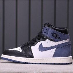"Air Jordan 1 High ""Blue Moon"" 555088-115 Blue White Black"