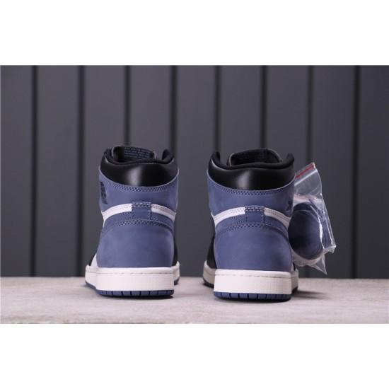 Air Jordan 1 High Blue Moon 555088-115 Blue White Black