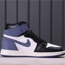 """Air Jordan 1 High """"Blue Moon"""" 555088-115 Blue White Black"""