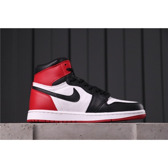 "Air Jordan 1 ""Black Toe"" 555088-125 Black Red White"