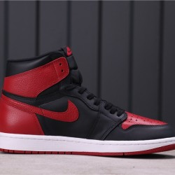 "Air Jordan 1 ""Bred"" 555088-001 Red Black"