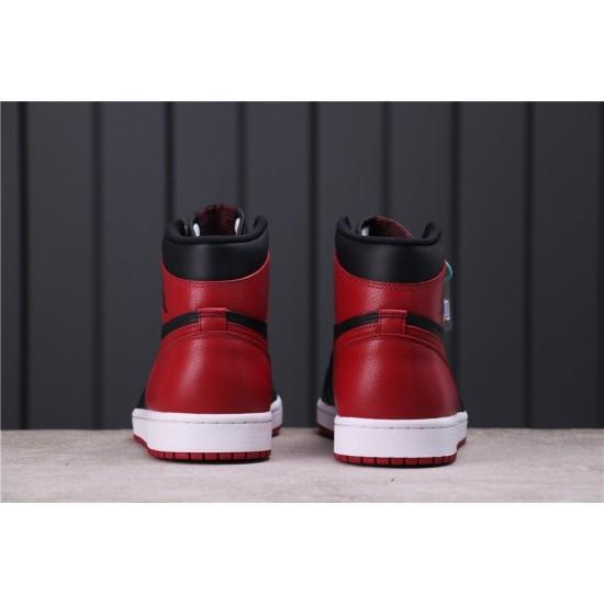 Air Jordan 1 Bred 555088-001 Red Black