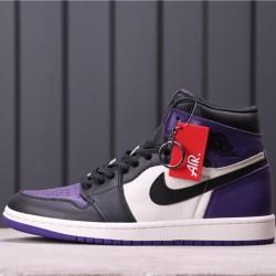 "Air Jordan 1 ""Court Purple"" 555088-501 Purple Black white"