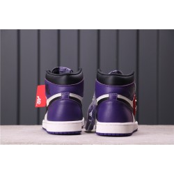 "Air Jordan 1 ""Court Purple"" 555088-501 Purple Black white"