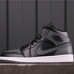 "Air Jordan 1 High ""Dark Grey"" 554725-041 Brown Black"