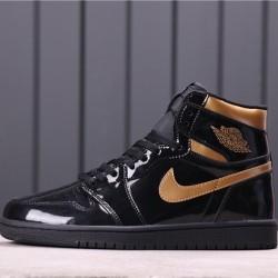 "Air Jordan 1 High ""Black/Metallic Gold"" 555088-032 Black Gold"