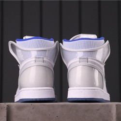 "Air Jordan 1 High ""Racer Blue"" CK6637-104 Grey White"