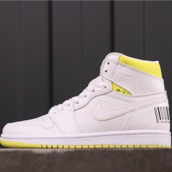 """Air Jordan 1 High """"First Class Flight"""" 555088-170 White Yellow"""