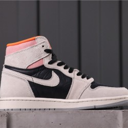 "Air Jordan 1 High ""Neutral Grey"" 555088-018 Grey Black Pink"