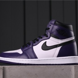 "Air Jordan 1 High OG ""Court Purple"" 555088-500 Purple White Black"