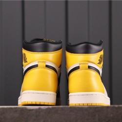 "Air Jordan 1 High OG ""Yellow Toe"" AR1020-700 Yellow White Blcak"