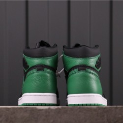 """Air Jordan 1 High """"Pine Green"""" 555088-030 Green Black"""