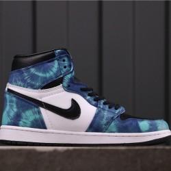 "Air Jordan 1 High ""Tie-Dye"" CD0461-100 Blue White Black"