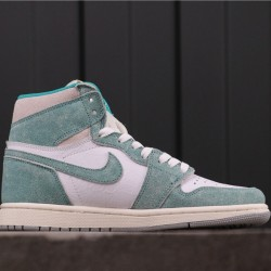 "Air Jordan 1 High ""Turbo Green"" 555088-311 White Green"