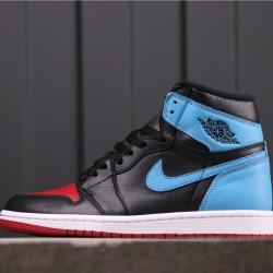 "Air Jordan 1 High ""UNC To Chicago"" CD0461-046 Black Blue Red"
