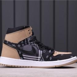 "Air Jordan 1 High Zoom ""Rage Green"" CK5088-001 Black Brown"