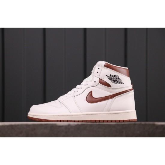 "Air Jordan 1 ""Mocha"" 555088-105 White Brown"