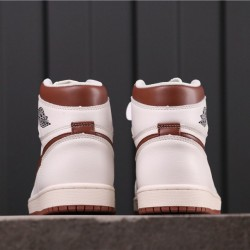 "Air Jordan 1 ""Mocha"" 555088-105 White Brown"