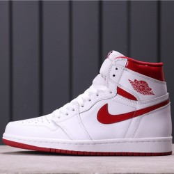 "Air Jordan 1 High OG ""Metallic Red"" 555088-103 White Red"