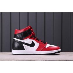 """Air Jordan 1 """"Satin Snake"""" CD0461-601 Red White Black"""