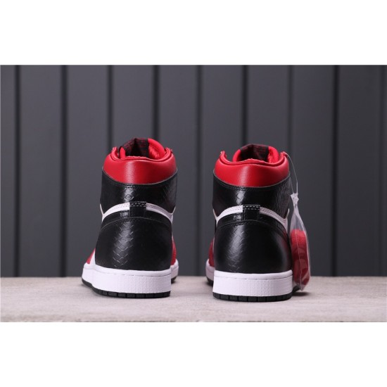 "Air Jordan 1 ""Satin Snake"" CD0461-601 Red White Black"