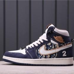 "Air Jordan 1 ""Satin Snake"" CN8607-004 Blue"