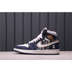 "Air Jordan 1 ""Satin Snake"" CN8607-004 Blue"