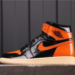 "Air Jordan 1 ""Shattered Backboard 3.0"" 555088-028 Black Orange"