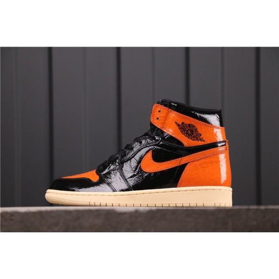 "Air Jordan 1 ""Shattered Backboard 3.0"" 555088-028 Black Orange"