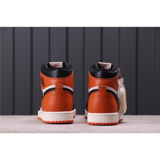 "Air Jordan 1 ""Shattered Backboard"" 555088-005 Orange Black White"