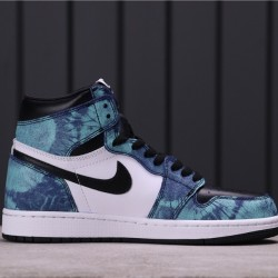 "Air Jordan 1 ""Tie-Dye"" CD0461-100 Blue White Black"