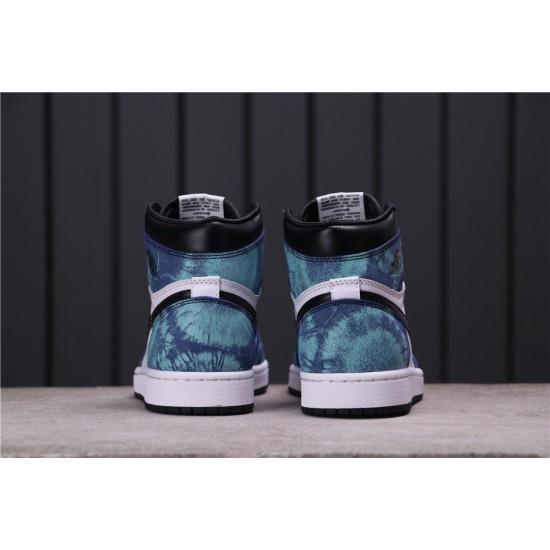 Air Jordan 1 Tie-Dye CD0461-100 Blue White Black