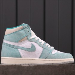 "Air Jordan 1 ""Turbo Green"" 555088-311 Blue White"