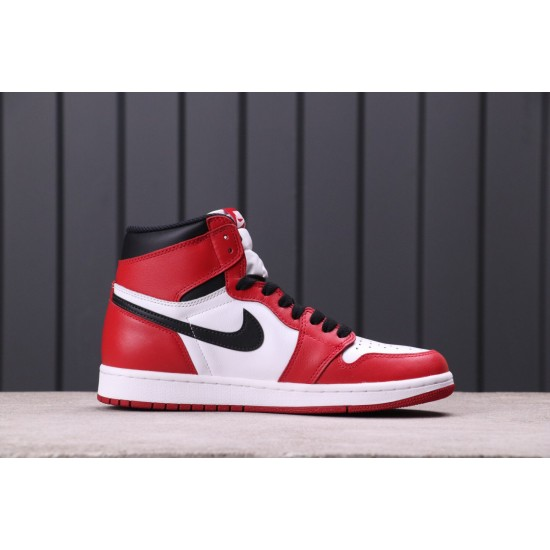 "Air Jordan 1 ""Chicago"" 555088-101 Red White"