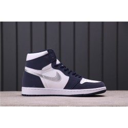 "Air Jordan 1 ""Midnight Navy"" DC1788-100 Dark Purple White"