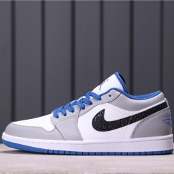 Air Jordan 1 Low 553558-103 Grey White Black