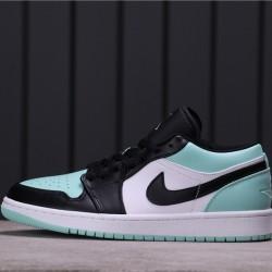 "Air Jordan 1 Low ""Emerald Rise"" 553558-117 Green White Black"
