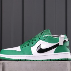 Air Jordan 1 Low 553558-301 Green White Black