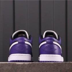 Air Jordan 1 Low 553558-501 Purple Black White