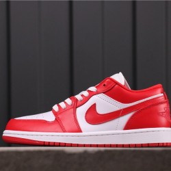 "Air Jordan 1 Low ""Gym Red"" 553558-611 Red White"
