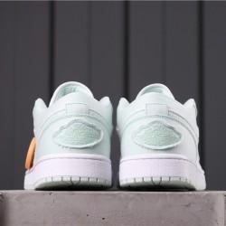 "Air Jordan 1 Low BHM ""EQUALITY"" CV1381-003 White Light Green"