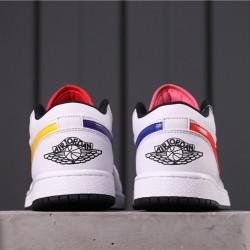 "Air Jordan 1 Low BHM ""EQUALITY"" CW7009-100 White Yellow Purple"