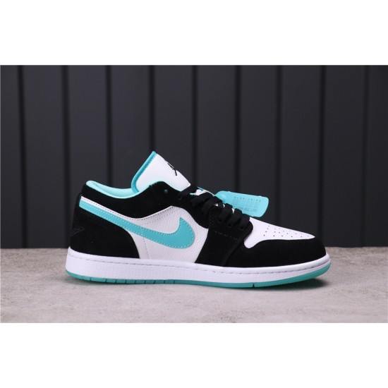 "Air Jordan 1 Low ""Black Toe"" CQ9828-131 Blue White Black"