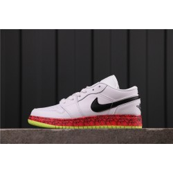 Women Air Jordan 1 Low CV9548-100 White Black Red