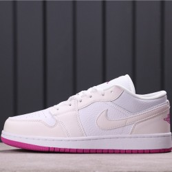 "Air Jordan 1 Low ""Court Purple"" 555112-iD White Purple"