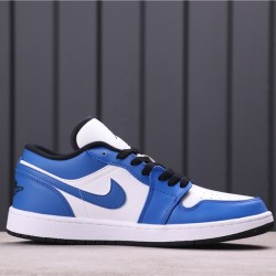 "Air Jordan 1 Low ""Game Royal"" 553558-124 Blue white"