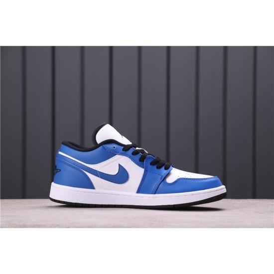 """Air Jordan 1 Low """"Game Royal"""" 553558-124 Blue white"""
