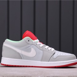 "Air Jordan 1 Low ""VHare"" 553558-021 Grey Pink White"