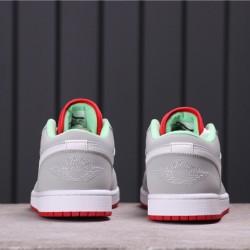 """Air Jordan 1 Low """"VHare"""" 553558-021 Grey Pink White"""