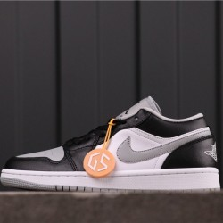 "Air Jordan 1 Low ""Light Smoke Grey"" 553558-039 Black Grey White"